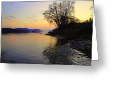 Ohio River At Sistersville  Greeting Card by Terry  Wiley