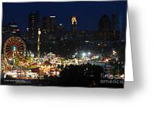 D3l-464 Ohio State Fair With Columbus Skyline Greeting Card