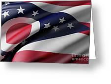 Ohio State Flag Greeting Card