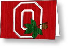 Ohio State Wood Door Greeting Card