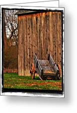Ohio Wheelbarrel In Autumn Greeting Card