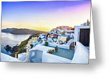Oia, Santorini - Greece Greeting Card