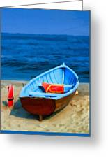 Oil - Rescue Boat Greeting Card
