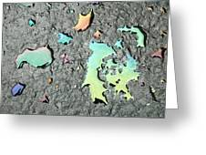 Oil Abstract Greeting Card
