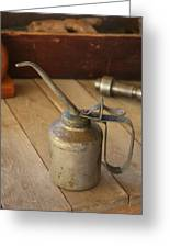 Oil Can Greeting Card