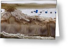 Oil-covered White Sands Of Orange Beach Greeting Card