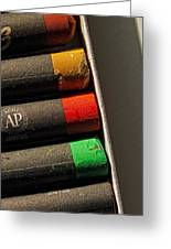 Oil Crayons Greeting Card