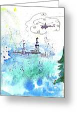 Oil Drilling Greeting Card