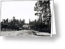 Oil Field Residential Los Angeles C. 1901 Greeting Card