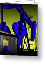 Oil Industry Well Pump Greeting Card