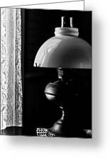 Oil Lamp On Table Greeting Card