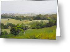 Oil Painting From Mt Cooroy Sunshine Coast Queensland Australia Greeting Card