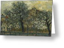 Oil Painting House Tree Greeting Card