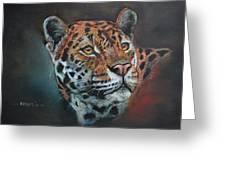 Oil Painting Jaguar Greeting Card