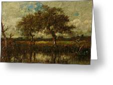 Oil Painting Landscape Greeting Card