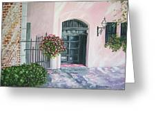 oil painting print art for sale Pink Wall and Door   Greeting Card