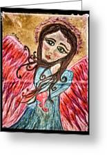Oil Pastel Angel Greeting Card