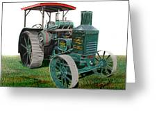 Oil Pull Tractor Greeting Card