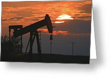 Oil Pump Jack 6 Greeting Card
