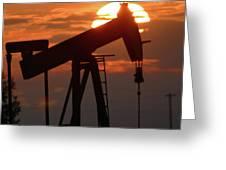Oil Pump Jack 7 Greeting Card