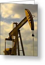Oil Pumpjack II Greeting Card