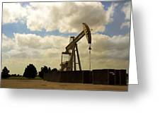 Oil Pumpjack Greeting Card