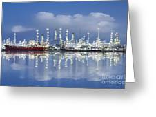 Oil Refinery Industry Plant Greeting Card