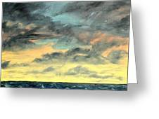 Oil Skyscape Painting Greeting Card