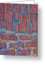 Oil Soaked Bricks Greeting Card