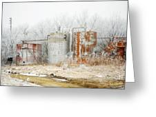 Oil Tank Farm Greeting Card