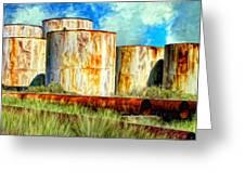 Oil Tanks Greeting Card