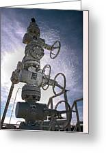 West Texas Oil Well #1 Greeting Card