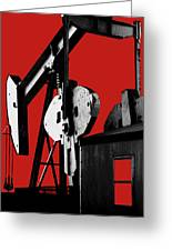 Oil Well Pump #4 Greeting Card