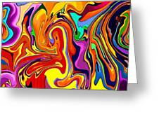 Oily Abstract Greeting Card