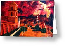 Ojai Red I Greeting Card