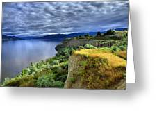 Okanagan Lake On A Thursday Greeting Card