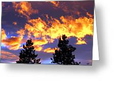 Okanagan Sunset Greeting Card