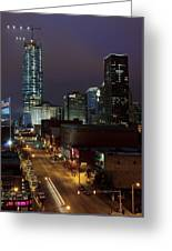 Okc Evening Greeting Card