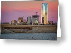 Okc Sunset Greeting Card