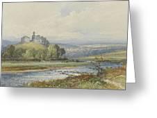 Okehampton Castle Greeting Card