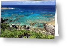Okinawa Blue Ocean Greeting Card