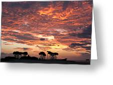 Okinawa Sunset Greeting Card