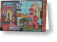 Oklahoma City Bricktown Mosaic Wall Greeting Card