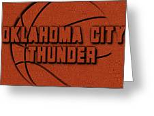 Oklahoma City Thunder Leather Art Greeting Card