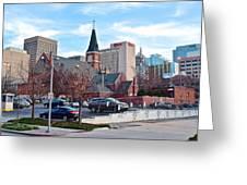 Oklahoma City Wide Angle Greeting Card