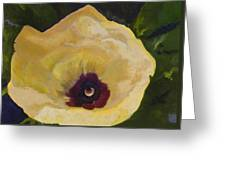 Okra Flower Greeting Card