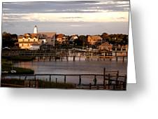 Okracoke Island Nc Sunrise Greeting Card