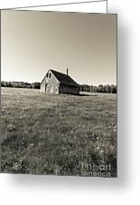 Old Abandoned Farm Building Greeting Card