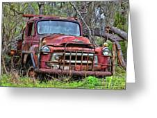 Old Abandoned International Truck Greeting Card