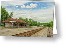 Old Abandoned Train Depot Greeting Card